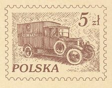 POLAND 1982 **MNH Postcard Cp#819 Road transport Poczta Polska - 50 years