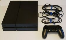 Sony PlayStation 4 PS4 CUH 1215A Jet Black Console w/ Controller, Cables 500gb