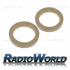 """5.25"""" 130mm 18mm Thick MDF Speaker Spacer Mounting Rings ID 116mm ED 155mm Pair"""