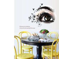 Wandtattoo Sticker Wandaufkleber Frau Auge Mädchen Romantik Vogel Blumen