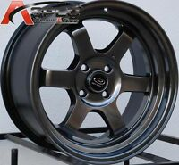 16X8 Rota Grid V  4X100 +20 Hyper Black Wheel (1)