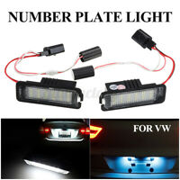 2 X LED Licence Number Plate Light White 3D0943021A VW01 For VW Golf GTI MK4 12V