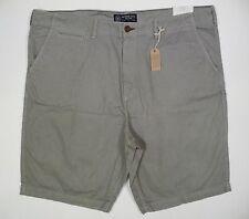 "Mens NEW AE American Eagle Gray Longboard 12"" Below The Knee Shorts Size 46 NWT!"
