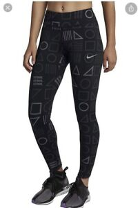 Nike Epic Lux Tight Leggings Full Lenght With Reflective Print Size XS