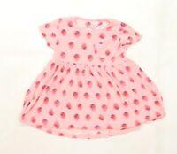 NEXT Girls Pink   T-Shirt Dress  Size 2-3 Years  - Strawberries