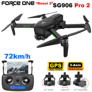 Force One SG906 Pro 2 Foldable GPS RC Drone with 4K HD Camera 3 Axis Anti-Shake