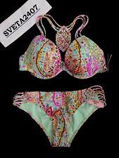 Victoria's Secret Bikini~Byron Paisley Fabulous Halter~Cheeky~Macrame~MANY SIZES