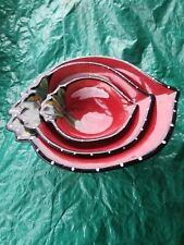Set of 3 Red Fruit Heather Goldminc Blue Sky 2011 Strawberry Nesting Bowls