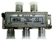 Ecoline FA3-14D F-Abzweiger 3-fach 14dB Antennensignal Kabelsignal Verteiler
