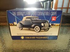 Franklin Mint 1939 Ford Convertible Coupe World's Fair 1:24 Scale Mib