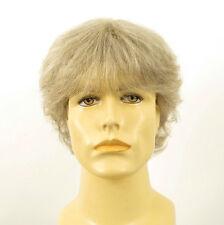 Perruque homme 100% cheveux naturel blanc méché gris ref DANY 51