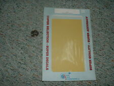 """SuperScale decals 1/72 1/48 Ch-6 1/16"""" yellow checkers E36"""