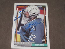 ARTURS IRBE AUTOGRAPHED 1992-93 TOPPS ROOKIE CARD