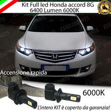 KIT FULL LED H1 HONDA ACCORD 8G 6000K BIANCO NO ERROR 6400 LUMEN ANABBAGLIANTI