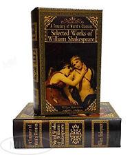 William Shakespeare Secret Storage Book Box Stash Box  Faux Leather Over Wood