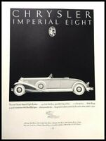 1931 Chrysler Imperial Vintage Advertisement Print Art Car Ad Poster LG82