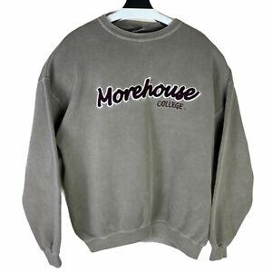 Oarsman Mens Gray Morehouse College Vintage Pullover Sweatshirt Size Large
