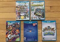 Wii U Games | LOT of 5 | ***Disney Infinity***| Nintendoland | Splatoon + more..