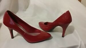 Glamorous Red Fioni High Heel Pumps Shoes Size 8  Look Brand New