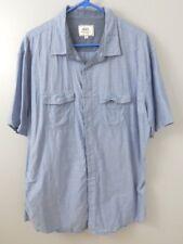 Ecko Unlimited men's Shirt Button Up Short Sleeves Light Blue Size XL