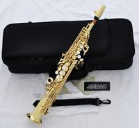 Professional Gold Straight Sopranino Saxophone sax Eb Low Bb high F With Case