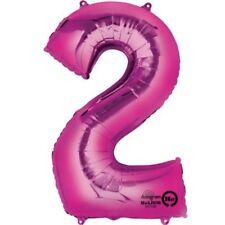 """Number 2 PALLONCINO 34 """" GIGANTE tinta unita numero festa di compleanno"""