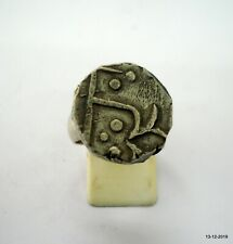 vintage antique tribal old silver ring coin ring Mughal Empire Coin Ring