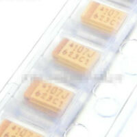 20PCS Yellow Chip Tantalum Capacitor 107J 6.3V100UF Type A 100UF/6.3V