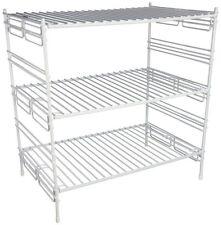 Cabinet Shelf Storage 3 Tier Pots Pans Jars Food Shelving System Kitchen Pantry