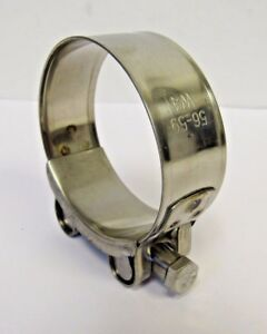 NEW (2) PACK 56-59 MM (2.20-2.32 IN) HD 304 STAINLESS STEEL T-BOLT HOSE CLAMP
