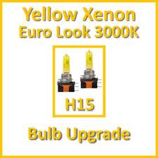 Warmweiß 3000K Gelb Xenon Scheinwerferbirne Tagfahrlicht DRL H15 55/15W (x2)