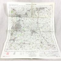 1967 Vintage Militare Mappa Di Coventry Rugby Nuneaton Hinckley Bedworth