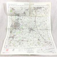 1967 Vintage Militare Mappa Di Coventry Rugby Nuneaton Hinckley Bedworth