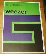 Weezer Rock Concert Poster Swiss Punk Graphic Pop Art Boathouse 10X14 Mike Joyce