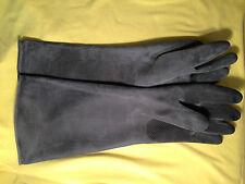 Industriehandschuhe 45 cm Gummihandschuhe schwarz industrial rubber gloves #22