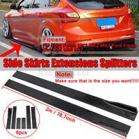 78.7'' Side Skirt Extension Rocker Panel Splitter For Ford Mustang Focus Fiesta