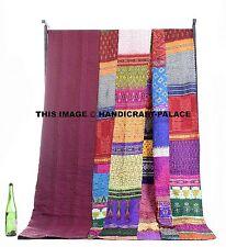 King Antique Indian Quilt -queen Vintage Patola Silk Sari Kantha Quilt Patchwork