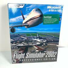 Microsoft Flight Simulator 2002 Professional Edition PC CD-ROM Software 2001