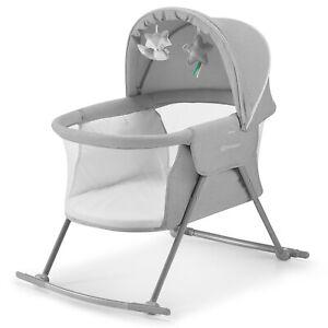 Kinderkraft Baby Crib Lovi 3-in-1 Baby Cot - Grey