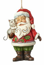 Enesco Jim Shore Heartwood Creek Santa with Cat Ornament NIB 4058824