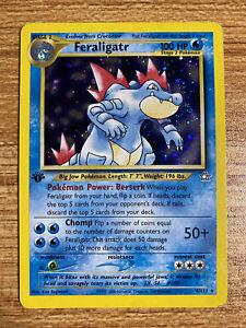 Feraligatr Holo Rare - Neo Genesis 4/111- WOTC Pokemon Card 1st Edition