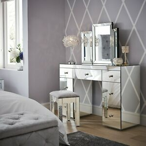 NEW - Glam Bevelled Dressing Table Mirror Glitz Vanity Make-up MIRROR ONLY