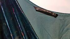 ZARA Floral Ruffle Wrap Velvet Off-Shoulder Midi Dress Green Sz M *Modified