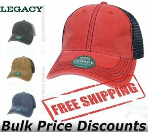 LEGACY Mens Dashboard Trucker Cap Hat DTA Pre-curved visor