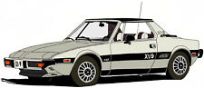 Fiat 1978 Bertone X1/9 canvas art print by Richard Browne X1-9