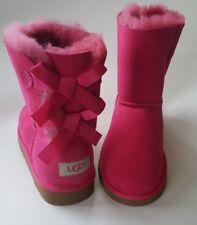 UGG Australia Kids K Bailey Bow Boots 3280Y Cerise Sz 6 NEW