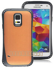 for Samsung galaxy  S5 flexible hard case ruged 2 layer mesh brown black