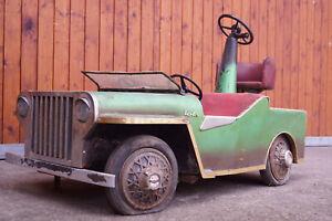 Karussellauto Antik Jeep Soli Auto Vintage Schausteller Kirmes Rummel 60er