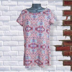 Boohoo - Womens UK 12 Multicoloured Paisley Short Sleeve Stretch Shift Dress