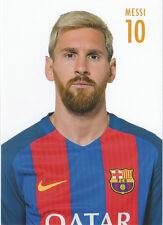 Postal postcard 10 MESSI, jugador/player  FC BARCELONA 16/17 (10,5x15 cms)